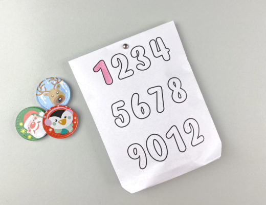 DIY Adventskalender Zahlen Tüten