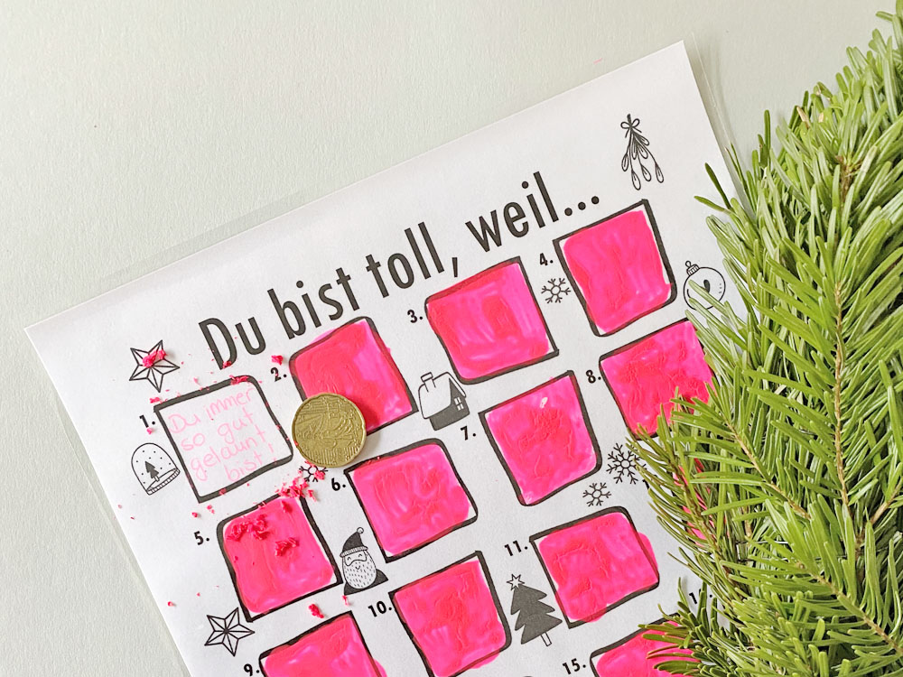 DIY Rubbel Adventskalender