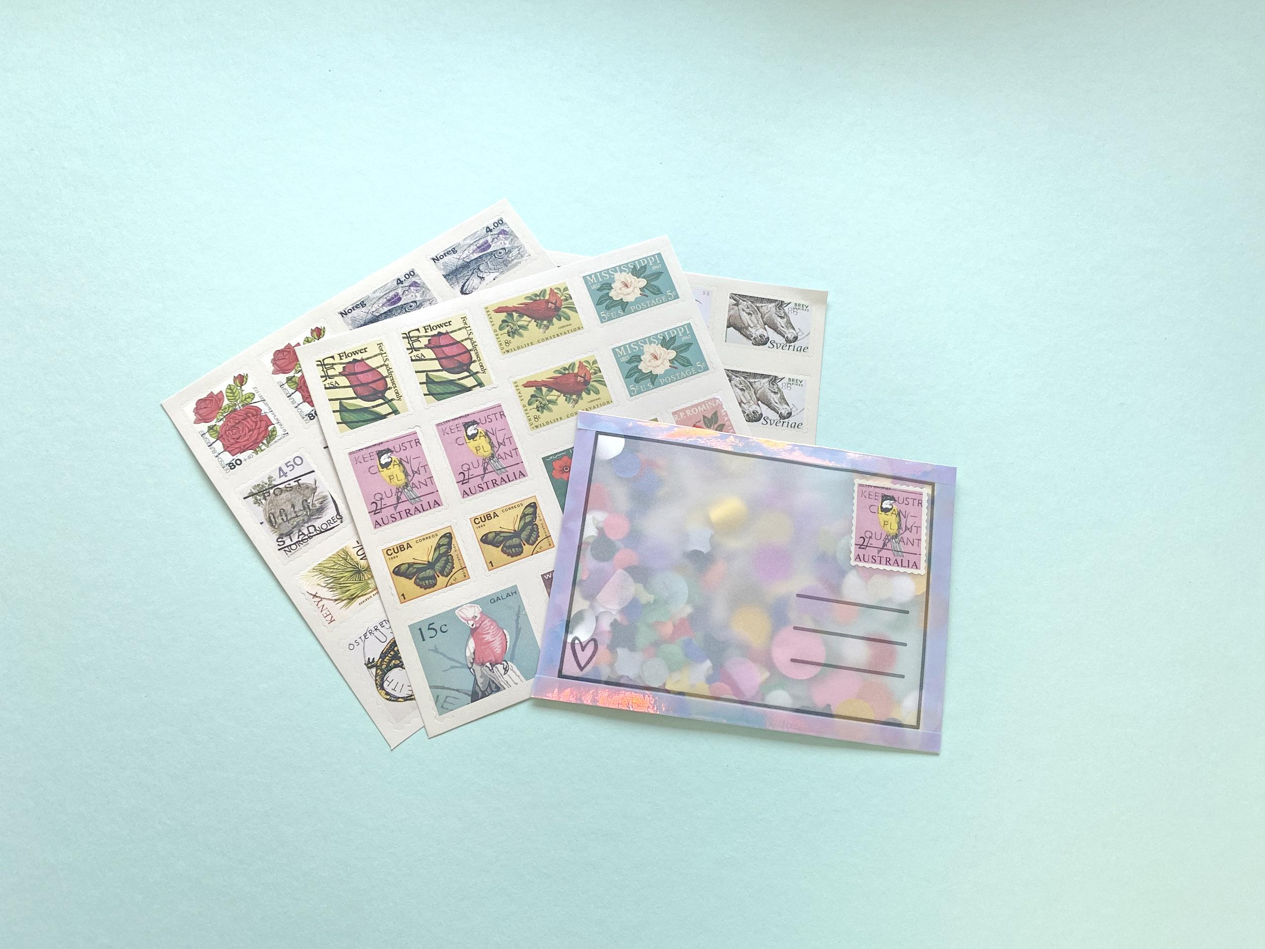 Anleitung 3, Postkarten aus Transparentpapier, DIY für Kinder