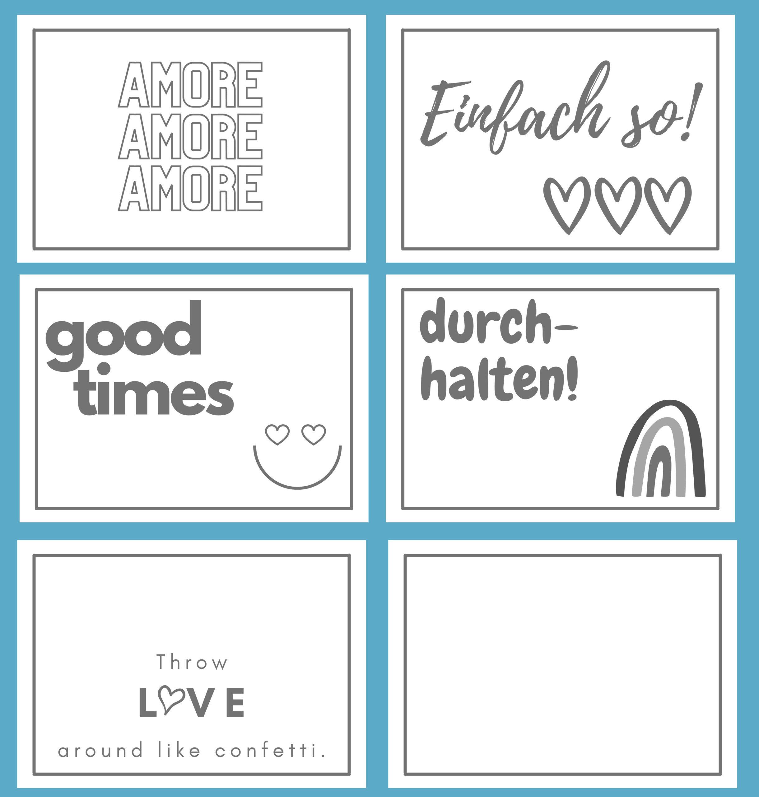 Motive Postkarten aus Transparentpapier, DIY für Kinder