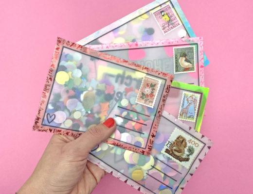 DIY Postkarten aus Transparentpapier