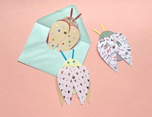 Herz Käfer DIY Basteln mit Kindern