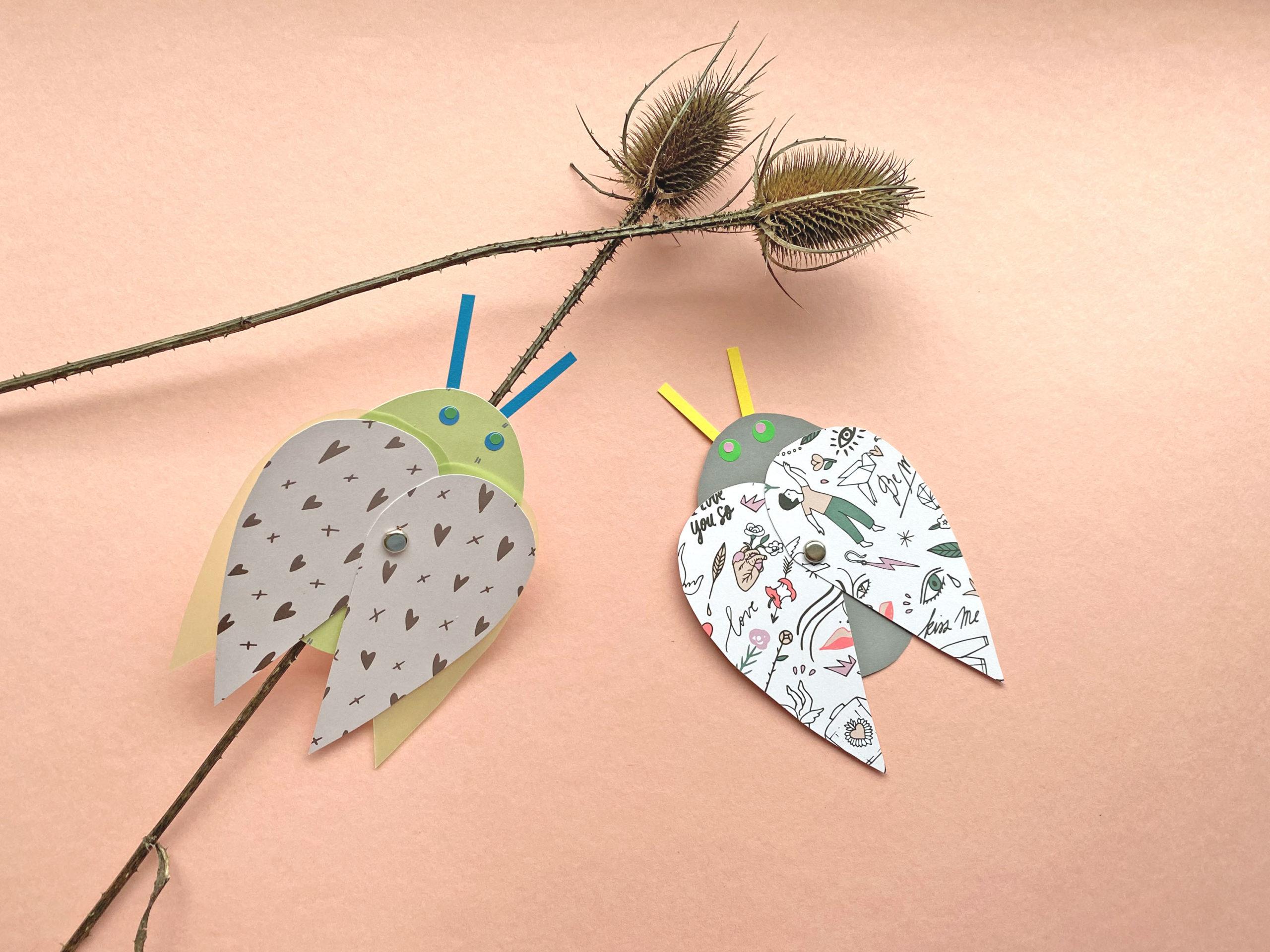 Herz Käfer DIY für Kinder
