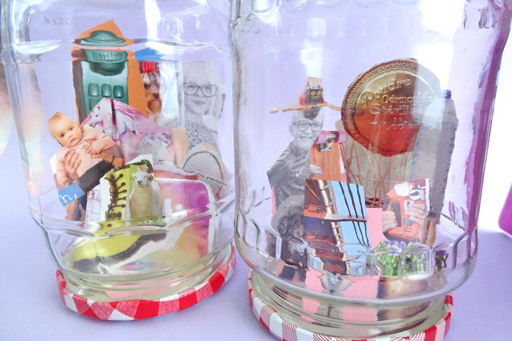 Familienporträts im Einmachglas, basteln mit Kindern