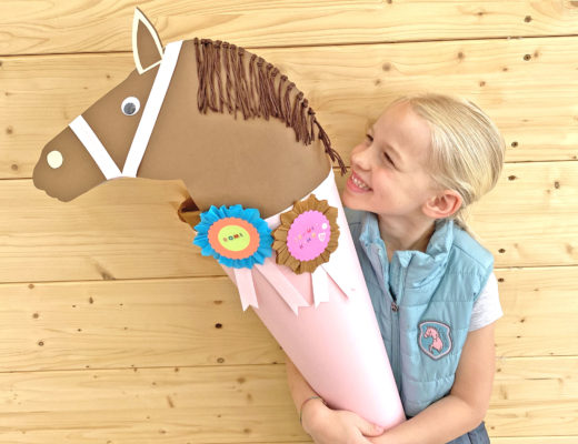 Pferde Schultüte, basteln mit Kindern